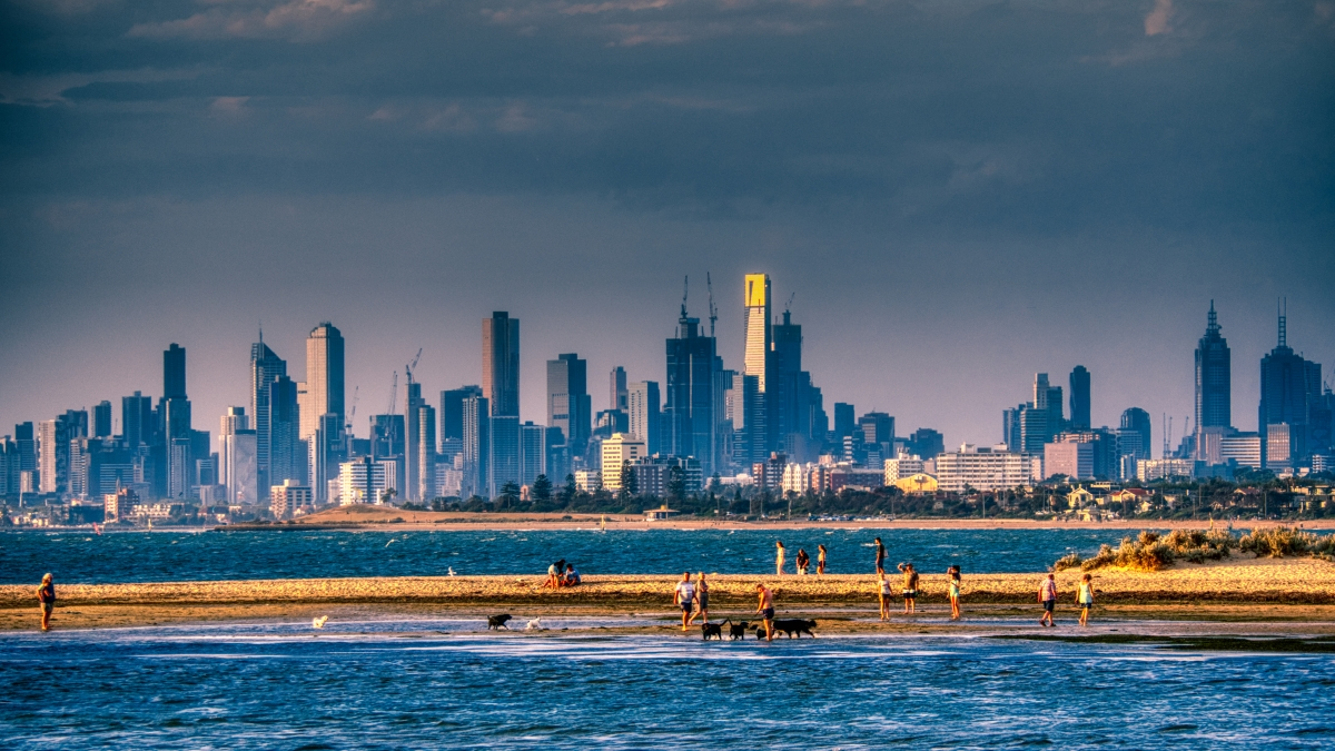 Melbourne at sundown